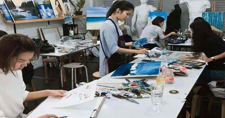 โรงเรียนสอนวาดรูป, วาดภาพสีน้ำ