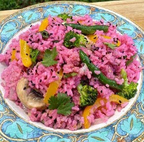 ข้าวผัดสีชมพู, วิธีการทำข้าวผัด