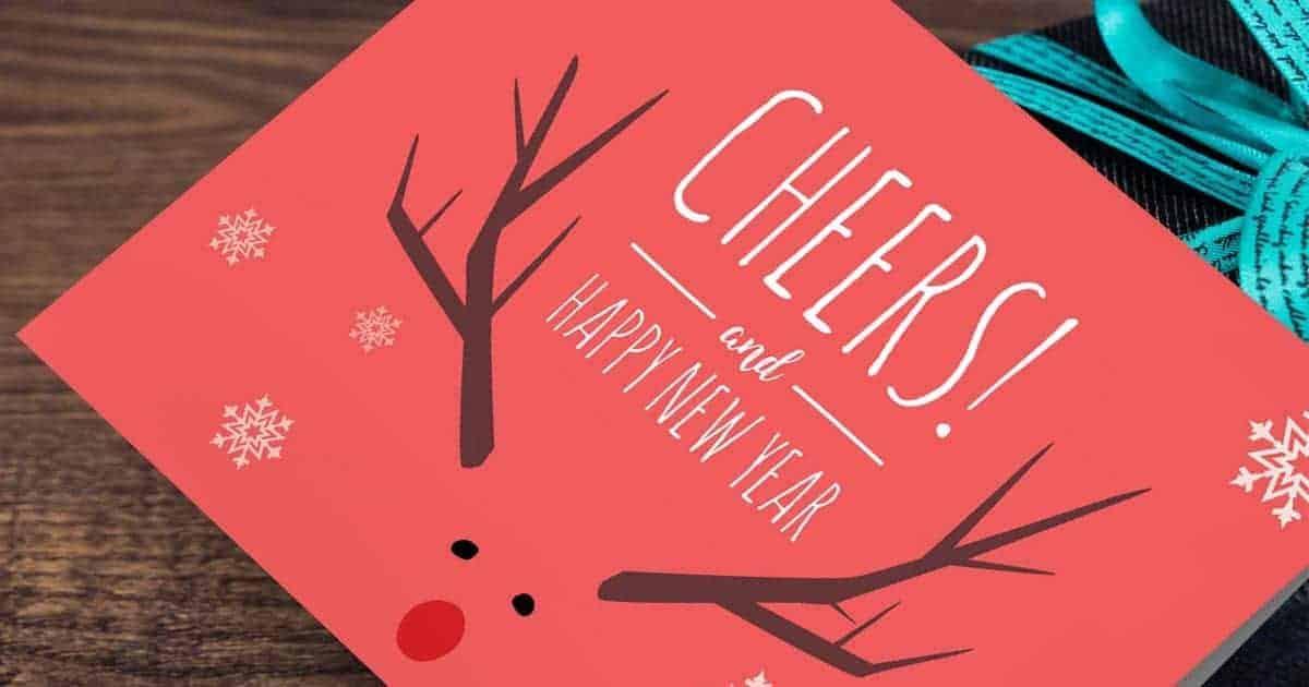 การ์ดอวยพรวันปีใหม่, การ์ดสวัสดีปีใหม่
