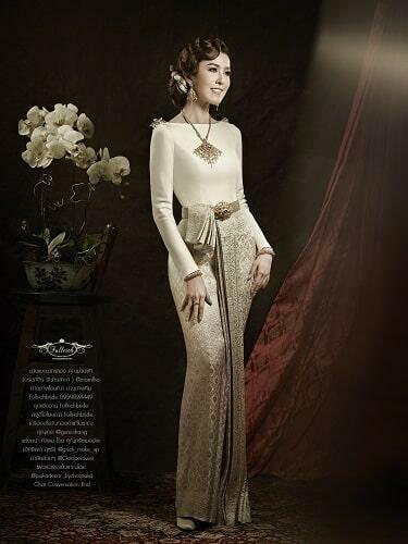 ชุดเเต่งงาน, ชุดแต่งงานไทยแบบเรียบง่าย