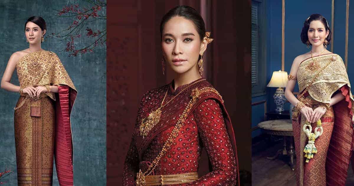 7 แบบชุดแต่งงานไทยแบบเรียบง่าย อัพลุคให้สวยสง่าแบบไทย